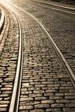 трам следа кривого Стоковые Фотографии RF