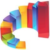 транспарант шага лестницы колонки диаграммы Стоковое Изображение