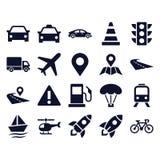Транспортируйте иконы иллюстрация штока