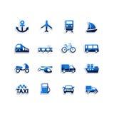 Транспортируйте иконы Стоковые Изображения