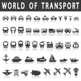 Транспортируйте иконы Стоковое фото RF