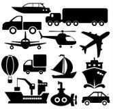 Транспортируйте иконы иллюстрация вектора