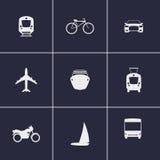 Транспортируйте иконы Стоковая Фотография RF
