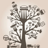 Транспортируйте штепсельную вилку Стоковые Фото