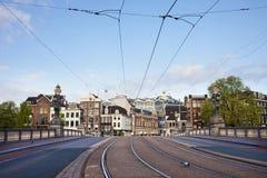 Транспортная инфраструктура в Амстердаме Стоковое фото RF