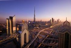 Транспортные развязки в Дубай Стоковое фото RF