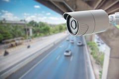 Транспортный контроль камеры слежения CCTV Стоковое Фото