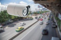 Транспортный контроль камеры слежения CCTV Стоковое Изображение