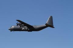 Транспортный самолет войск C-130 Геркулеса Стоковое фото RF