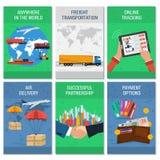 6 транспортов знамен цвета вертикальных бесплатная иллюстрация