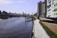 Транспорт в реке Sumida, Японии Стоковое фото RF