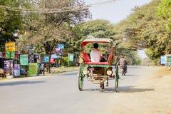 Транспорт в Bagan, Мьянме Стоковое Изображение