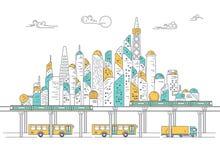 транспорт города Стоковая Фотография