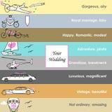 Транспорт моды свадьбы бесплатная иллюстрация