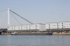 Транспорт на реке Рейне Стоковое Фото