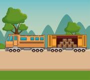 Транспорт перевозки и снабжение поставки Стоковые Изображения RF