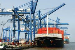 Транспорт, экспорт, импорт, порт Хо Ши Мин стоковое фото rf