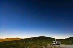 Транспорт для отдыха на белой ноче Норвегии, Европе Стоковые Фото