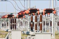 трансформаторы системы наивысшей мощности электричества Стоковая Фотография RF