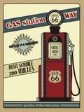 Трасса 66 бензоколонки иллюстрация штока
