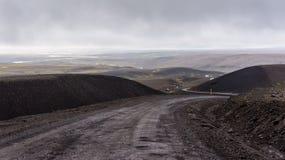 Трасса гористой местности Kjölur Стоковое Изображение