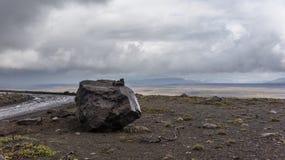 Трасса гористой местности Kjölur Стоковые Изображения
