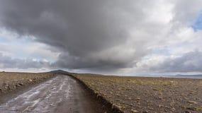 Трасса гористой местности Kjölur Стоковая Фотография