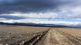 Трасса гористой местности Kjölur Стоковая Фотография RF