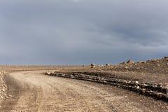 Трасса гористой местности Kjölur Стоковые Изображения RF