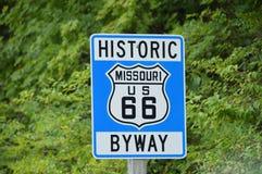 Трасса 66 Миссури стоковое изображение