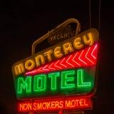 Трасса 66: Мотель Монтерей, Альбукерке, NM стоковые фотографии rf