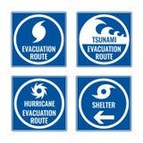 Трасса опорожнения и укрытие в случае цунами или урагана бесплатная иллюстрация