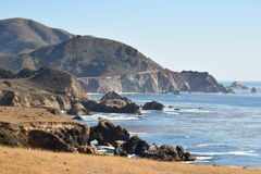 Трасса 1 сценарное HWY Калифорнии Стоковое Изображение RF