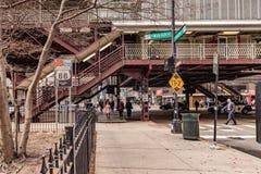 Трасса США 66 подписывает внутри городской Чикаго Стоковое Изображение
