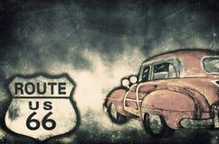 Трасса 66 США Стоковое Изображение RF