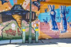 Трасса 66 Флагстафф Аризоны стены граффити стоковое фото rf