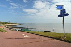 Трасса цикла Северного моря, Англия Стоковое фото RF