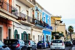 Трасса Giardini Naxos сценарная, Сицилия Стоковое Фото
