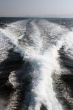 Трассировка быстроходного катера морского пехотинца винтов Стоковые Изображения RF