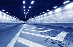 Трассировка выведенная вождением автомобиля в тоннель Стоковая Фотография RF