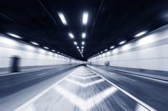 Трассировка выведенная вождением автомобиля в тоннель Стоковое Фото