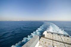 Трассировка корабля - бодрствование Стоковые Фотографии RF