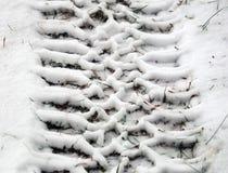 Трассировка на колесах автомобиля Стоковая Фотография