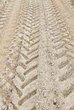 Трассировки катят внутри грязь Стоковая Фотография RF