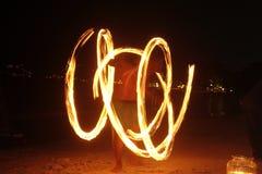 Трассировки пламени выставки огня Стоковая Фотография RF