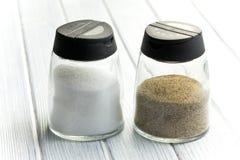 Трасучка соли и перца Стоковое Изображение