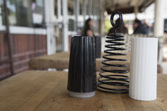 трасучки соли черного перца белые Стоковые Фото