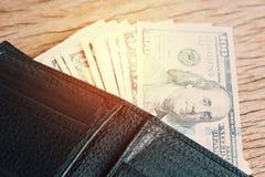 Трата денег, оплата или концепция бонуса с кучей доллара США Стоковая Фотография RF