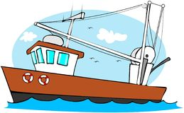 траулер рыболовства иллюстрация штока