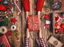Традиции семьи рождества Стоковые Изображения RF